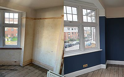 Plasterers and decorators in Barnet and Finchley.